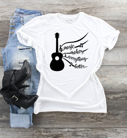 T-Shirt -Music Makes Everything Better