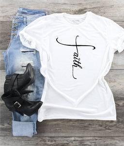 T-Shirt - Faith (V-Neck or Unisex Classic Fit)