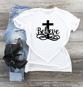 T-Shirt - Believe (V-Neck or Unisex Classic Fit)