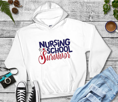 Hooded Sweatshirt - Nursing School Survivor