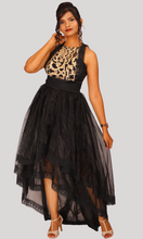 Load image into Gallery viewer, Black High Low Party Wear Dress