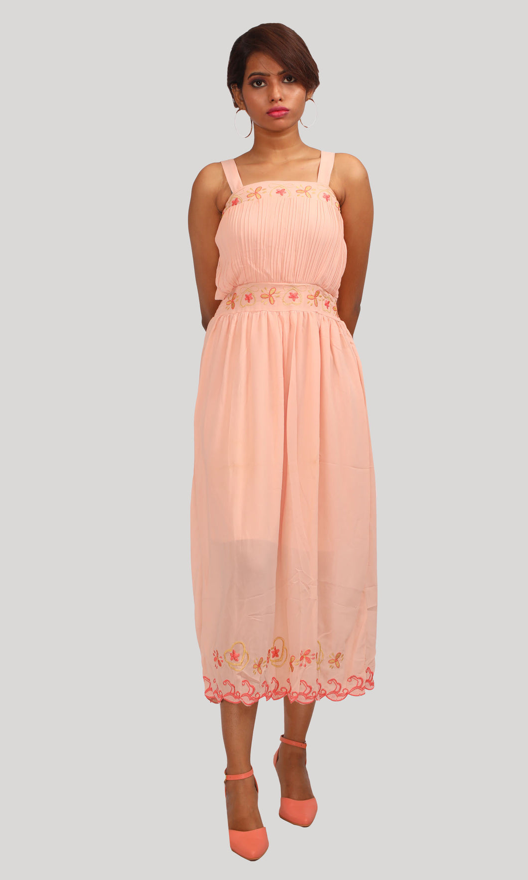Salmon Trendy Evening Wear
