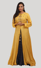 Load image into Gallery viewer, The Medallion Yellow Anarkali Ready To Wear Designer Collection
