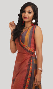 Brick Red High Low Daily Wear Kurti