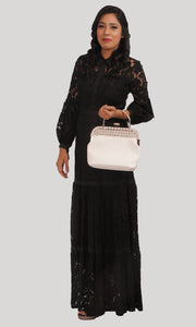 Black Lace Trendy Evening Wear