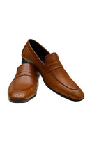 Load image into Gallery viewer, Men Brown Penny Loafers