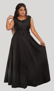 Black Trendy Evening Party Wear Gown