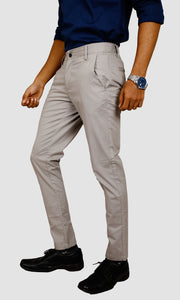 Men Grey Ankle Length Chinos