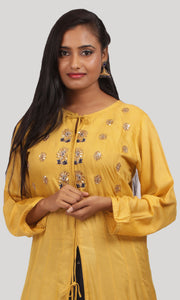 The Medallion Yellow Anarkali Ready To Wear Designer Collection
