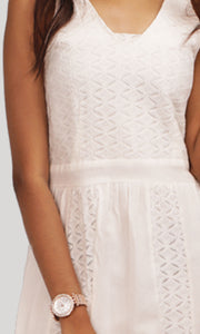 White Lace Trendy Evening Wear