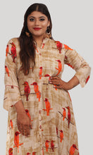 Load image into Gallery viewer, Beige High Low Printed Daily Wear Kurti