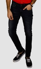Load image into Gallery viewer, Men Ink Blue Slim Fit Jeans