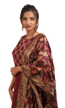Load image into Gallery viewer, The Mystic Maroon Anarkali gown Ready to wear