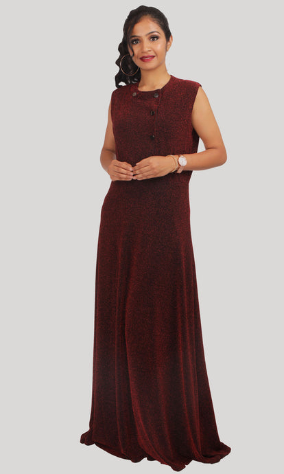 Wine Red Party Wear Gown