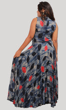 Load image into Gallery viewer, Blue Beige Trendy Evening Wear