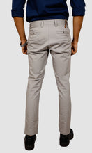 Load image into Gallery viewer, Men Grey Ankle Length Chinos
