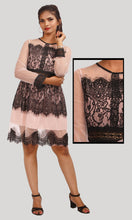 Load image into Gallery viewer, Salmon Netted Trendy Evening Wear