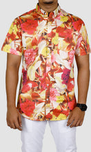 Load image into Gallery viewer, Men Floral Printed Slim Fit Casual Shirts