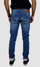 Load image into Gallery viewer, Men Light Blue Slim Fit Jeans