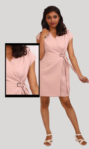 Salmon Trendy Party Wear Dress