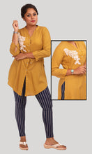 Load image into Gallery viewer, Mustard Yellow Stripped Western Shirts