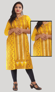 Women Mustard Yellow Daily Wear Kurti