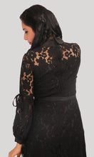 Load image into Gallery viewer, Black Lace Trendy Evening Wear