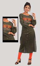 Load image into Gallery viewer, Olive Green Daily Wear Kurti
