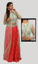 Load image into Gallery viewer, The Cardinal Red Lehenga Ready To Wear Designer Collection