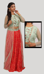 The Cardinal Red Lehenga Ready To Wear Designer Collection