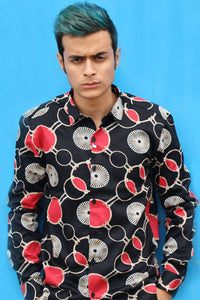 Men Chain Printed Shirts