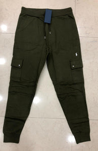 Men Solid Cargo Track Pants