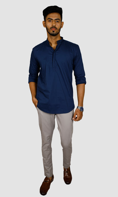 Men Solid Slim Fit Kurta Shirts
