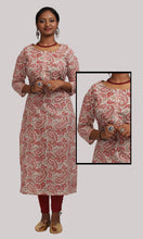 Load image into Gallery viewer, Women Cream And Red Kalamkari Printed Daily Wear Kurti