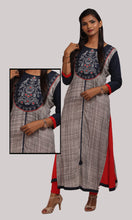 Load image into Gallery viewer, Women Blue And Red A-Line Daily Wear Kurti