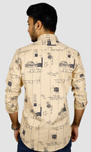 Load image into Gallery viewer, Men Postal Printed  Slim Fit Casual Shirts