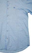 Load image into Gallery viewer, Men Sky Blue Solid Slim Fit Casual Shirts