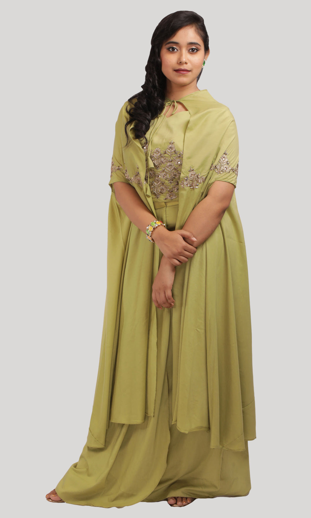 Incisive Olives as Yours Green palazzo Ready to Wear Designer Collections