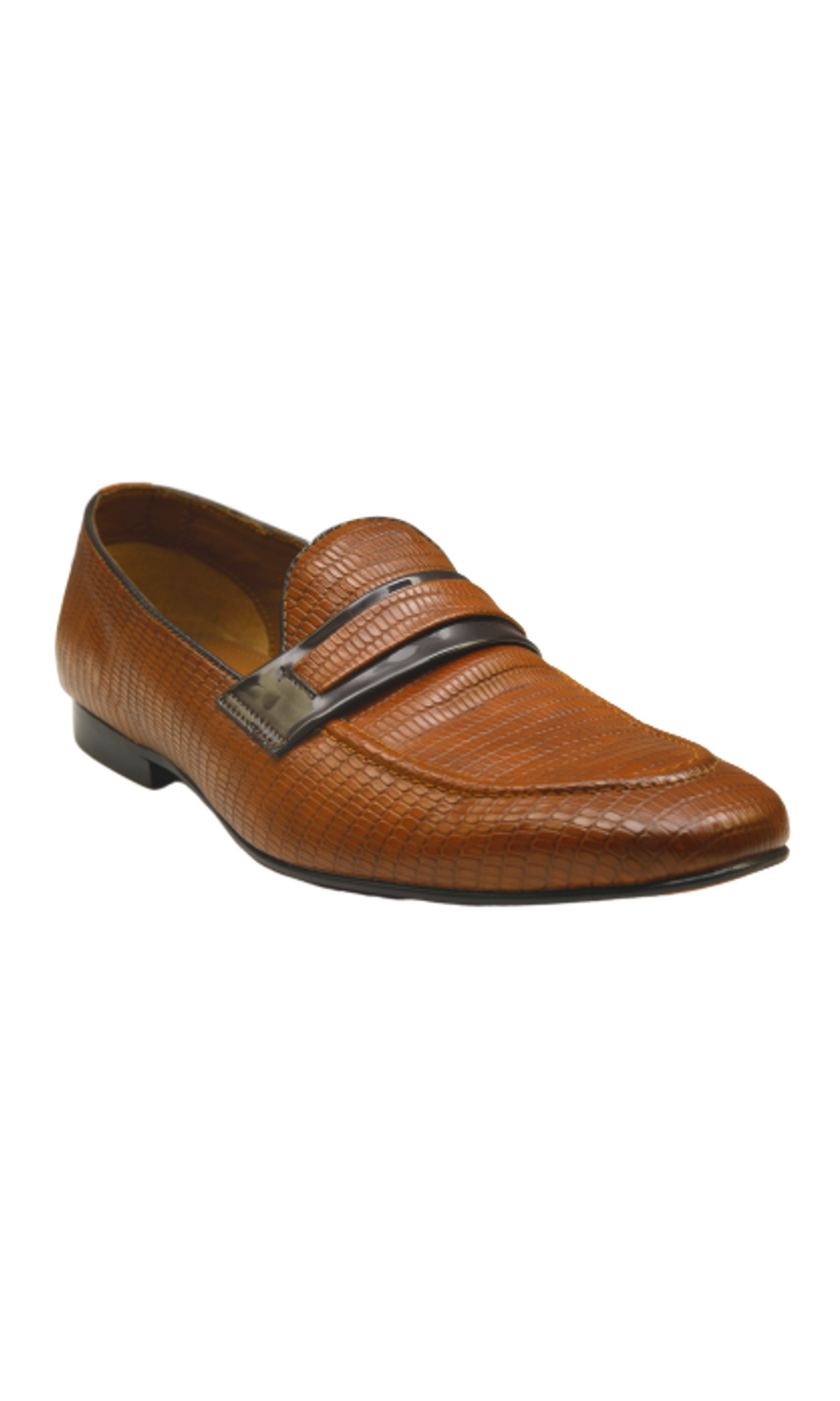 Men Brown Penny Loafers