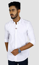 Load image into Gallery viewer, Men Placket Design Slim Fit Casual Shirts