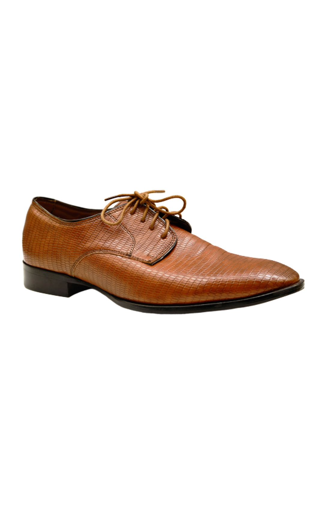Men Brown Patterned Formal Brogues