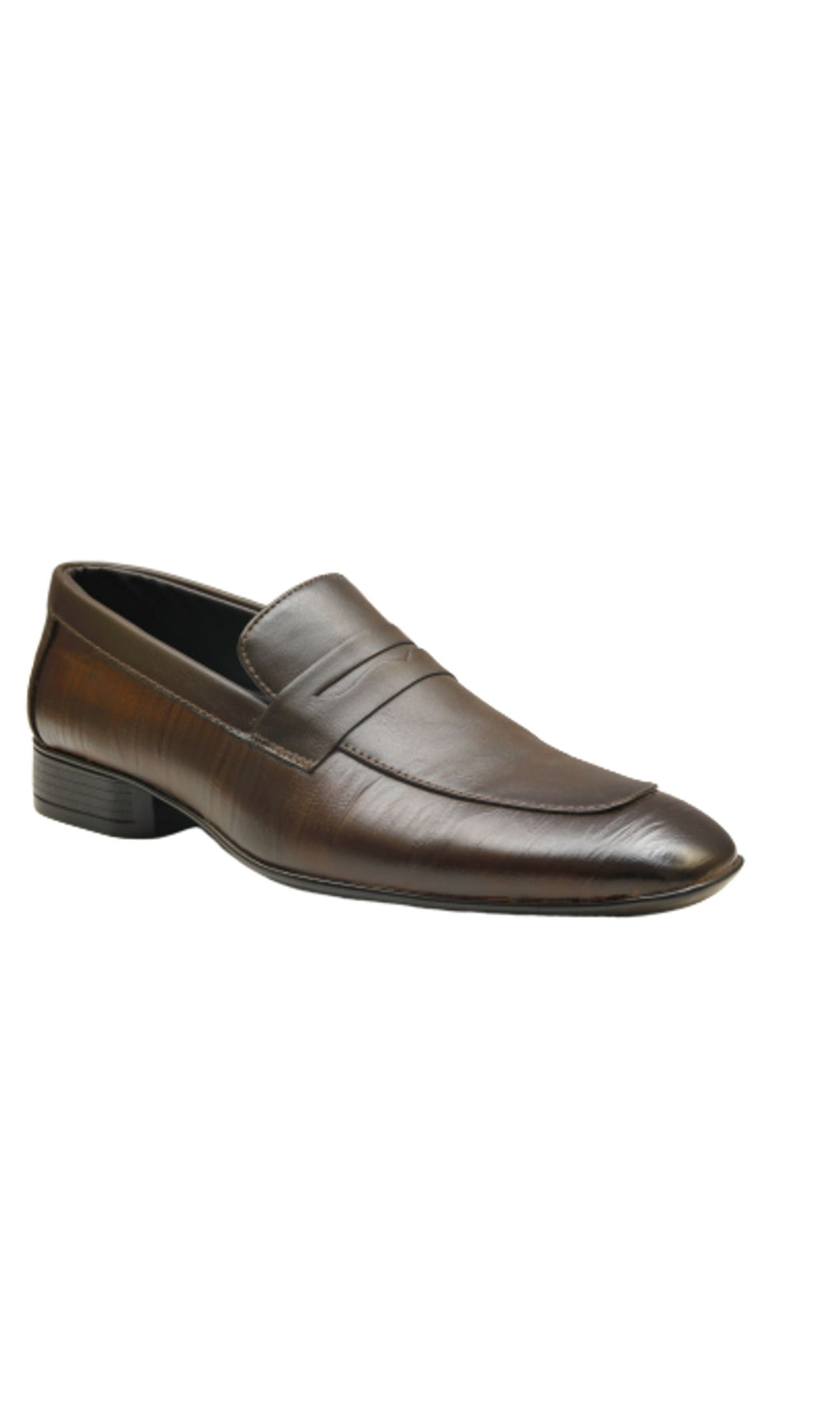 Men Dark Brown Penny Loafers