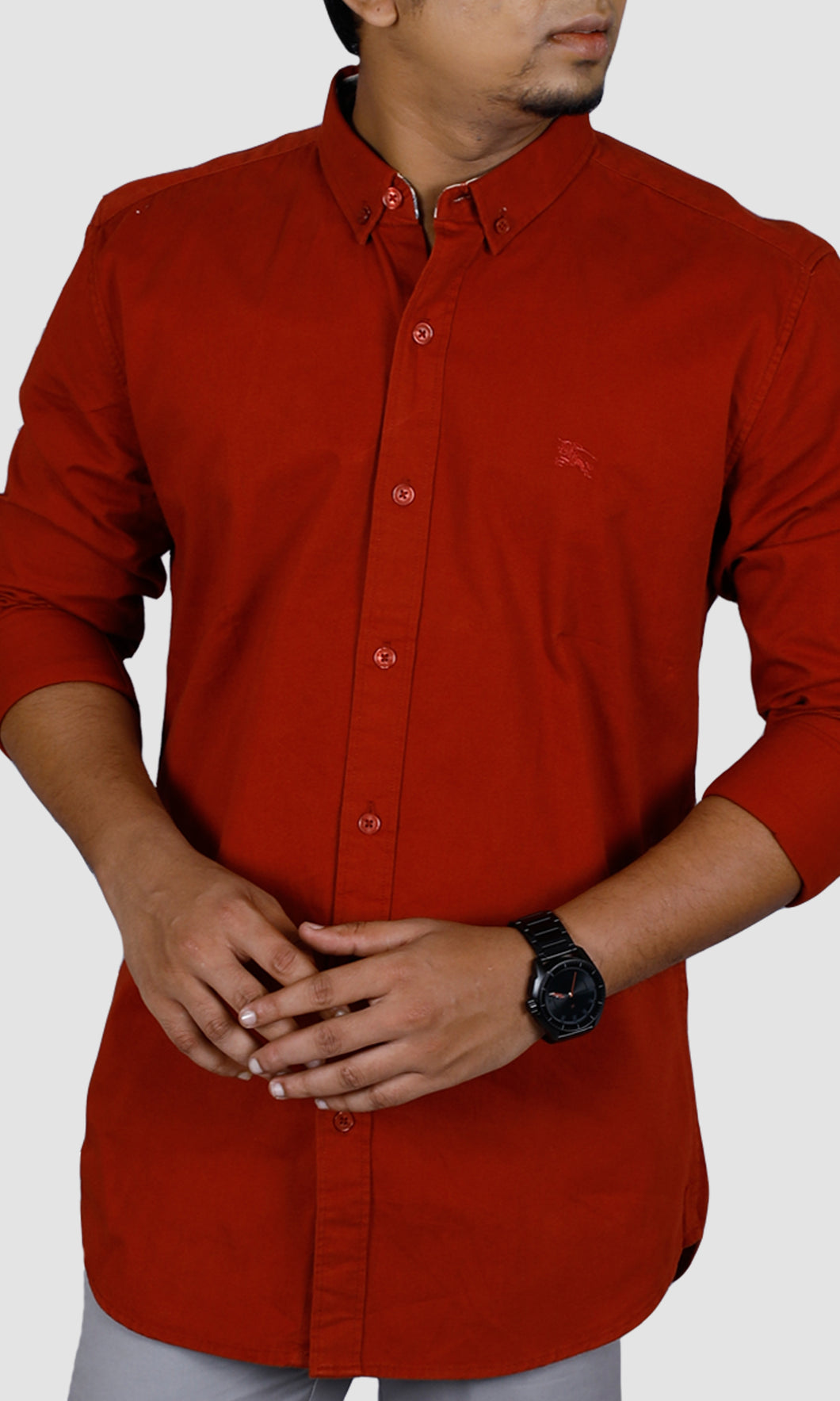 Men Solid Slim Fit Casual Shirts