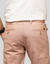 Load image into Gallery viewer, Men Peach Linen Regular Fit Chinos