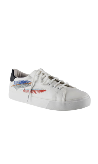 Men White Patterned Sneakers