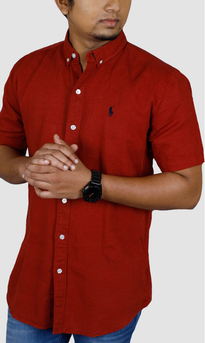 Men Half Sleeve Solid Slim Fit Casual Shirts