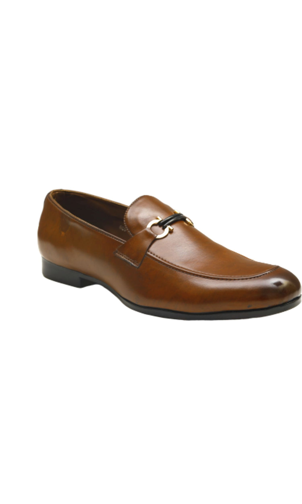 Men Brown Horsebit Loafers