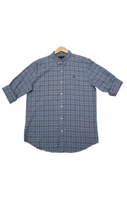Men Double Checked Slim Fit Casual Shirts