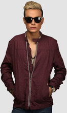 Load image into Gallery viewer, Men Dark Maroon Polka Dots Linen Jackets