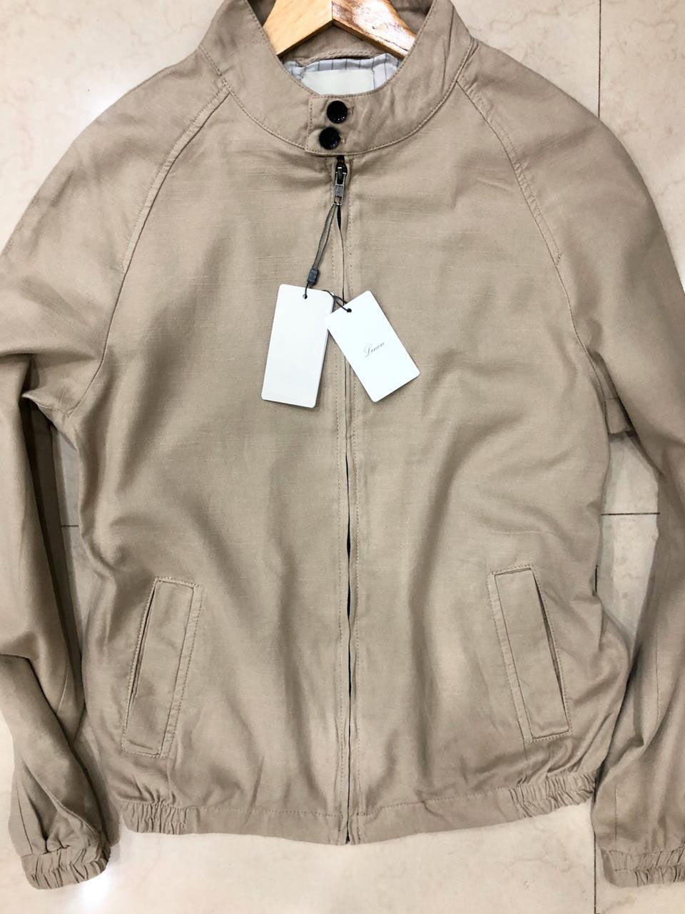 Men Solid Bomber Jacket